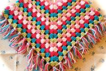 crochet ponchos de niños