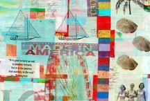 My Art / My mixed media and screen printed art.