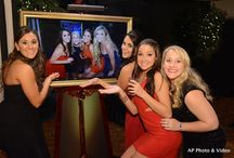 """Fun Shots / Fun Shots are our idea of a photo booth without the booth! Photos are instantly shown on our framed 40"""" TV!  All photos by Affordable Pro Photo & Video."""