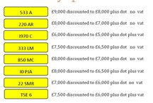 Feb Special Offers - Number Plates / This months special offers - number plates at cheap prices