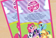 Cece's 5th birthday party. My little pony style!