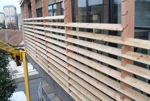 Dřevěná clona