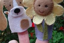 felt finger puppet