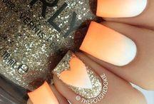 Nail art matte nails