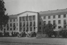 Pártház, Herman Ottó Múzeum / Miskolc,Pártház, Herman Ottó Múzeum, Vince Pál, Iparterv, 1952