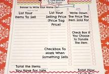 Garage sale organizing