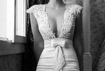 wedding dresses & rings