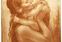 art - mother and child / by Iqbal Gulati