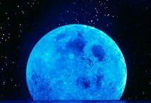Cielo Luna e stelle