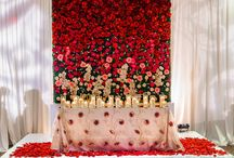 Color | Red / Rose are red, we design for you, here are some ideas, we make custom linens too!