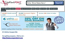 Yatra Coupons for flights booking at Couponskart.net / Get yatra coupons for saving money while booking domestic and international flights and hotel booking . All yatra sales discount and deals are live on http://www.couponskart.net . Yatra coupons can be used by copying coupon code from http://www.couponskart.net