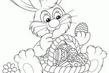 Húsvéti szinezők