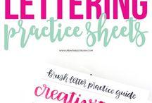 Handlettering Brush lettering