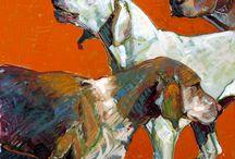 Dog and animal paintings