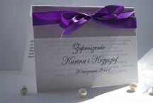Zaproszenia ślubne i nie tylko / zaproszenia ślubne z imionami młodej pary