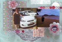 My scrapbooking layouts and cards / A variety of paperwork produced over a number of years.