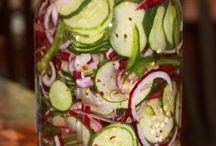 Salade de concombres réfrigérés