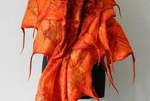 wool felt scarf