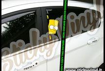 Adesivi Stickers Decals The Simpsons / Adesivi Stickers Decals Tuning di tutta la Famiglia dei SIMPSON! Prezzi a partire da 9 euro. www.adesivituning.eu