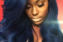 Μαυρα Μπλε Μαλλιά