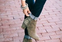 clothes, boots and shoes