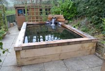 railway sleepers pond
