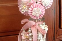 Paper medallions bouquet . / Shabby chic