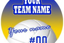 Customized Volleyball Logo / Create your own Volleyball logos with names, nicknames, anniversary dates, birthday on it to make iron-on transfers, decals stickers, patches, labels, etc. You also can change background, foreground, images inside the circles. No Minimum Order.   If you have any ideas about the Volleyball logos, give it a shot, you would like the logos which are involved with your thoughts.