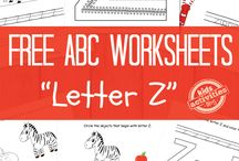 Homeschool: Letter Zz / Everything you need to teach the letter Z to your little ones. {Free} printables, crafts, activities, videos, books and recipes to make it FUN!