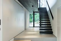 Black & White Wood & Concrete Interior