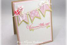 Stampin Up - Baby Card