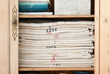 Linens/ Grain Sacks / by Cindy | Edith & Evelyn Vintage