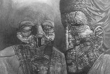 Artist: Zdzisław Beksiński mono