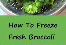 freezing garden vegetable