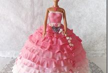 barbie(doll)cake