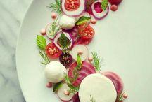 Salatdeko auf teller