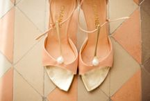 Peach and Gold Weddings