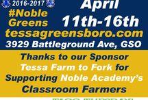 Tessa Farm to Fork - Greensboro, NC / A collection promoting student grown microgreens at Tessa Farm to Fork in Greensboro, NC