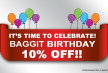 Its our Birthday and we're Gifting You! Flat 10% Off!!  / Hey there Baggitians Its our birthday and we're treating you with a super sweet 10% off on all products! So walk on down to your Favourite Accessory Brand and get your Style Fix. Let's celebrate - fashionably! Offer available only at Exclusive Baggit Outlets & www.baggit.com. Between 2nd - 6th October.