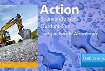Abenteuer verschenken / #Abenteuer verschenken z. B. #Bagger fahren, #Ballonfahren, #Hubschrauber fliegen, #Wellness u v.m.