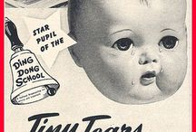 Tiny Tears through the years /  Tiny Tears  Tiny Tears displaying tear holes  CompanyAmerican Character Doll CompanyAvailability1950–1968Materials  Tiny Tearswas a doll manufactured by the