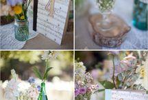 Botellas con flores