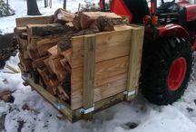 rack a bois sur 3 point tracteur