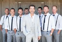 WEDDING | Grooms and Groomsmen / The hubby-to-be and the hottie guys He calls bros
