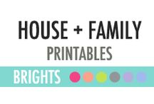 House and Family Printables - DIY Planner / House and Family Printables - DIY Planner