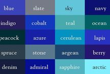 Color of the week: Blue / wall stickers, decoration
