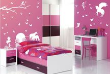 Girls Bedroom Decorating Ideas / When it comes to the bed, choose a bed spread with a texture and color that either complements the room or that can contrast it. A reversible bed spread is a great money-saving idea if it has a solid color on one side and a pattern on the opposing side.