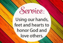 Service / Ideas to teach the importance of service to others.