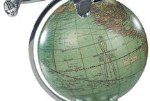 Antique Globes, Maps and Other Destinations... / Have always been fasinated by the prospect of travel..via maps, globes or any other means / by Rebecca G.