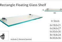Glass shelves / Modern assortment of glass shelves